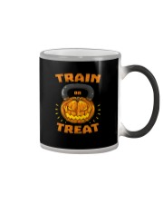 Train Or Treat Pumpkin Kettlebell Halloween Weight Color Changing Mug thumbnail