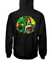 Irish Motorcycle Shirt Biker Couple Hooded Sweatshirt back