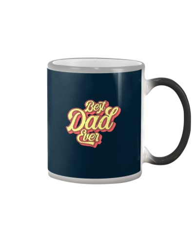 Vintage Best Dad Ever Funny Retro 70s Style