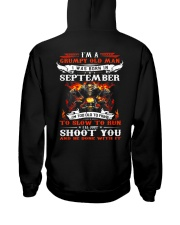 I'm a grumpy old man I was born in September Hooded Sweatshirt thumbnail