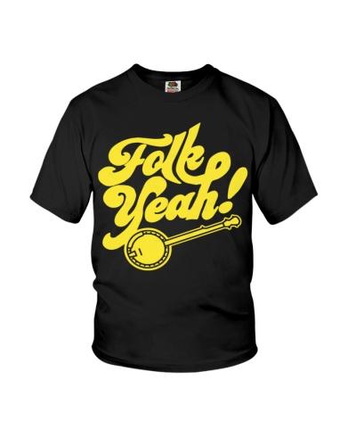 Folk Yeah - Funny Banjo Typography Vintage