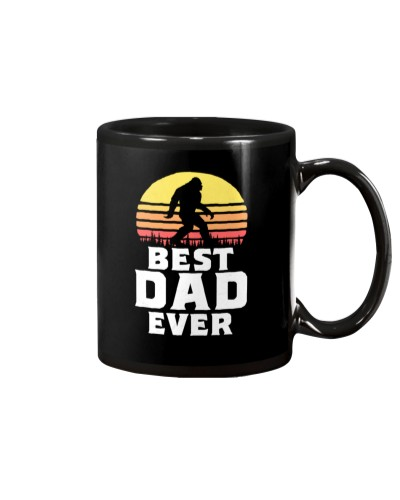 Vintage Best Dad Ever Funny Bigfoot Sasquatch