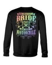 Sexy Biker Never Underestimate Bride Motorcycle Crewneck Sweatshirt thumbnail