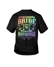 Sexy Biker Never Underestimate Bride Motorcycle Youth T-Shirt thumbnail