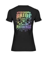 Sexy Biker Never Underestimate Bride Motorcycle Premium Fit Ladies Tee thumbnail
