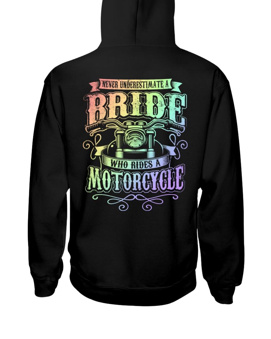 Sexy Biker Never Underestimate Bride Motorcycle Hooded Sweatshirt