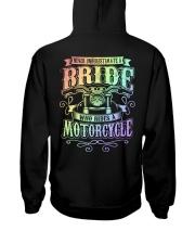 Sexy Biker Never Underestimate Bride Motorcycle Hooded Sweatshirt back