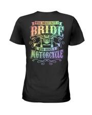 Sexy Biker Never Underestimate Bride Motorcycle Ladies T-Shirt thumbnail