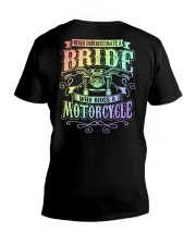 Sexy Biker Never Underestimate Bride Motorcycle V-Neck T-Shirt thumbnail