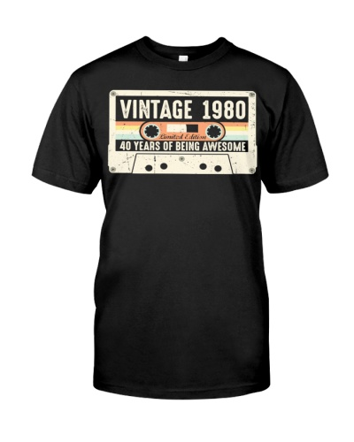 Vintage 1980 40 years Awesome 40th birthday