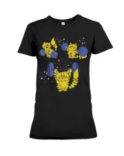 Weight Lifting Cat TShirt Funny GYM Gift For Women Premium Fit Ladies Tee thumbnail