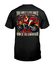 Motorcycle Rose Red One Life Pin Up Girl Premium Fit Mens Tee thumbnail