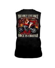 Motorcycle Rose Red One Life Pin Up Girl Sleeveless Tee thumbnail