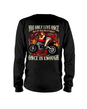 Motorcycle Rose Red One Life Pin Up Girl Long Sleeve Tee thumbnail