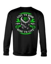 Live To Ride To Live Skull Biker Crewneck Sweatshirt thumbnail
