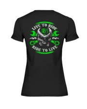 Live To Ride To Live Skull Biker Premium Fit Ladies Tee thumbnail