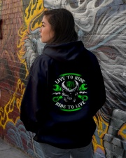 Live To Ride To Live Skull Biker Hooded Sweatshirt lifestyle-unisex-hoodie-back-1