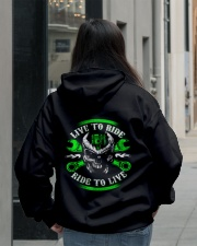 Live To Ride To Live Skull Biker Hooded Sweatshirt lifestyle-unisex-hoodie-back-2