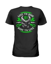 Live To Ride To Live Skull Biker Ladies T-Shirt thumbnail