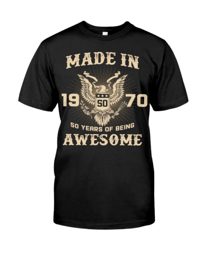 Made In 1970 50 Years Of Being Awesome 50th