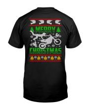 Motorcycle Biker Ugly Christmas Premium Fit Mens Tee thumbnail