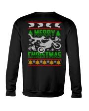Motorcycle Biker Ugly Christmas Crewneck Sweatshirt thumbnail