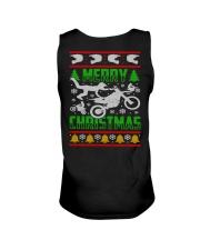 Motorcycle Biker Ugly Christmas Unisex Tank thumbnail
