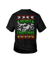 Motorcycle Biker Ugly Christmas Youth T-Shirt thumbnail