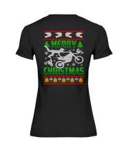 Motorcycle Biker Ugly Christmas Premium Fit Ladies Tee thumbnail