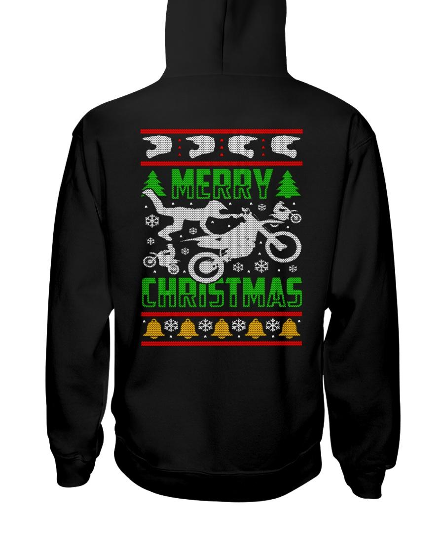 Motorcycle Biker Ugly Christmas Hooded Sweatshirt