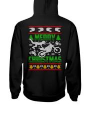 Motorcycle Biker Ugly Christmas Hooded Sweatshirt back
