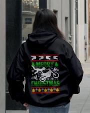 Motorcycle Biker Ugly Christmas Hooded Sweatshirt lifestyle-unisex-hoodie-back-2