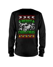 Motorcycle Biker Ugly Christmas Long Sleeve Tee thumbnail