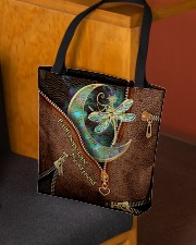 Dragonfly Leather Pattern Print All-over Tote aos-all-over-tote-lifestyle-front-02