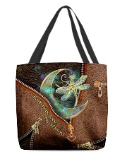 Dragonfly Leather Pattern Print All-over Tote back