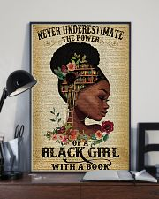 Never underestimate the power of a black girl 11x17 Poster lifestyle-poster-2