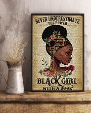 Never underestimate the power of a black girl 11x17 Poster lifestyle-poster-3