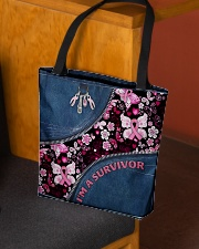 I'm a survivor All-over Tote aos-all-over-tote-lifestyle-front-02