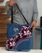 I'm a survivor All-over Tote aos-all-over-tote-lifestyle-front-10