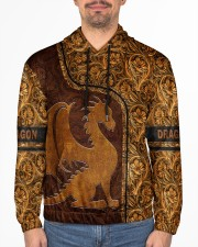 Dragon Leather pattern print Men's All Over Print Hoodie aos-complex-men-hoodie-lifestyle-front-01