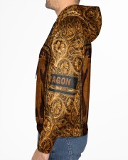 Dragon Leather pattern print Men's All Over Print Hoodie aos-complex-men-hoodie-lifestyle-left-01