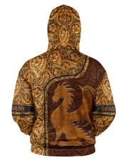 Dragon Leather pattern print Men's All Over Print Hoodie aos-men-hoodie-ghosted-back-03