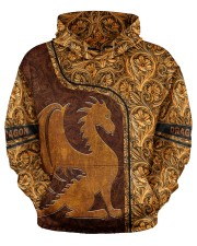 Dragon Leather pattern print Men's All Over Print Hoodie aos-men-hoodie-ghosted-front-03