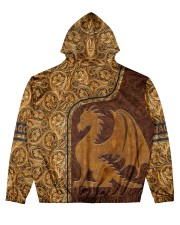 Dragon Leather pattern print Men's All Over Print Hoodie back
