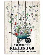 And into the garden I go 11x17 Poster front