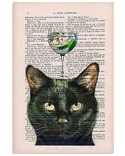 Black cat gin poster 11x17 Poster front