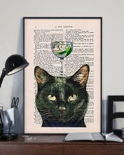 Black cat gin poster 11x17 Poster lifestyle-poster-2
