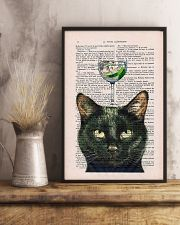 Black cat gin poster 11x17 Poster lifestyle-poster-3