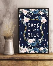 Back the blue 11x17 Poster lifestyle-poster-3