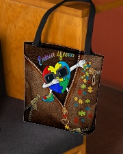 Embrace differences Leather pattern print All-over Tote aos-all-over-tote-lifestyle-front-02